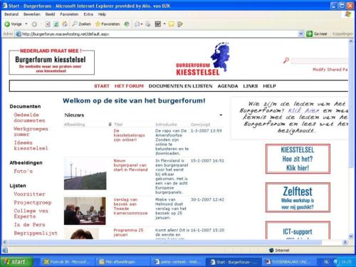 Burgerforum Intranet